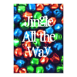 Jingle All the Way Red, Green, and Blue Invitation