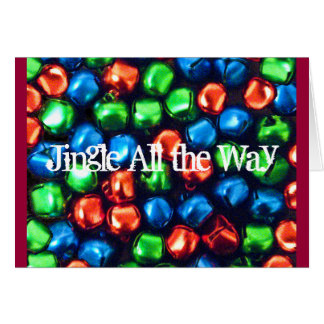 Jingle All the Way Red, Green, and Blue Note Card