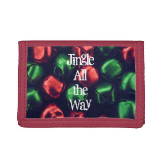 Jingle All the Way Red & Green Bell Trifold Wallet
