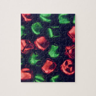 Jingle All the Way Red & Green Bells Puzzle & Tin