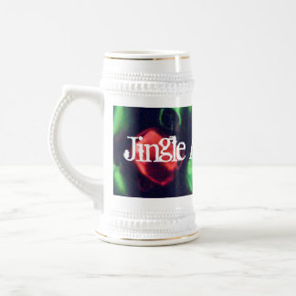 Jingle All the Way  Red & Green Bells Stein Mug