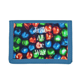 Jingle All the Way Red/Green/Blue Trifold Wallet