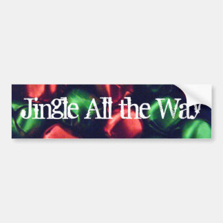 Jingle All the Way Red & Green Bumper Sticker