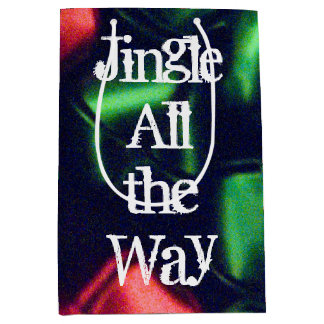 Jingle All the Way Red & Green Medium Gift Bag