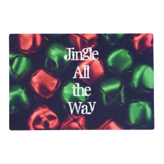 Jingle All the Way Red & Green Placemat