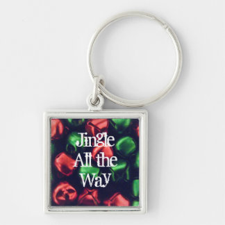 Jingle All the Way Red/Green Prem. Square Keychain