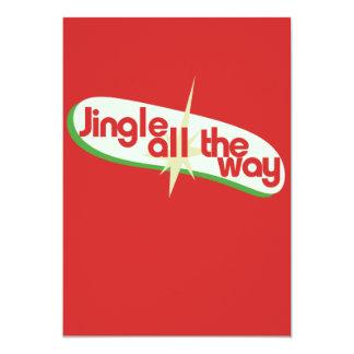 Jingle all the way retro xmas 5x7 paper invitation card