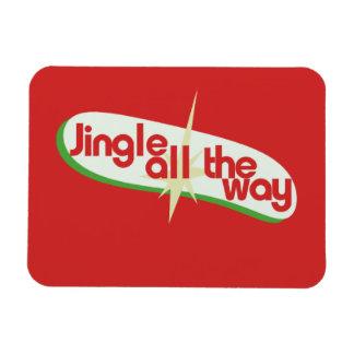 Jingle all the way retro xmas magnet