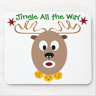 Jingle All the Way Silly Reindeer Mouse Pad