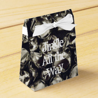 Jingle All the Way Silver Bell Tent Favor Box