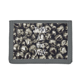 Jingle All the Way Silver Bell Trifold Wallet