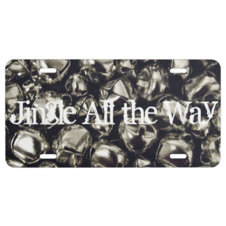 Jingle All the Way Silver Bells License Plate