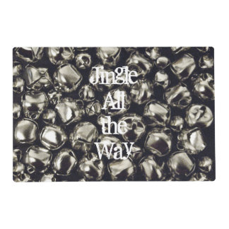 Jingle All the Way Silver Placemat