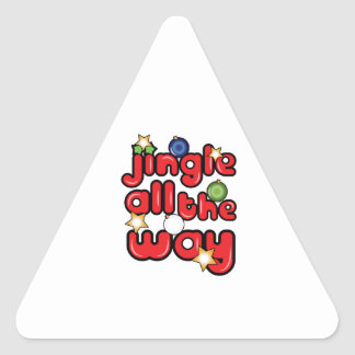 Jingle All The Way Triangle Sticker