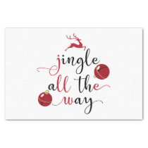 jingle all the way tissue paper