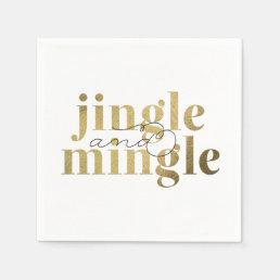 Jingle and Mingle Christmas Holiday Party Paper Napkin