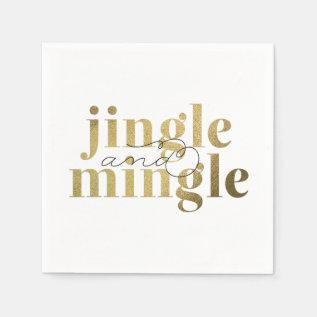 Jingle And Mingle Christmas Holiday Party Paper Napkin at Zazzle