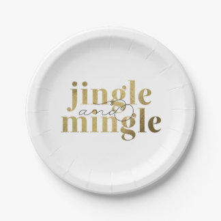 Jingle and Mingle Christmas Holiday Party Paper Plate