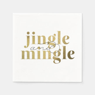 Jingle and Mingle Christmas Holiday Party Standard Cocktail Napkin