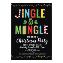 Jingle and Mingle Christmas Party Holidays Invite