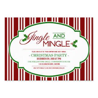 Jingle and Mingle Company Christmas Party Cards