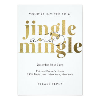 Jingle and Mingle | Holiday Party Invitations