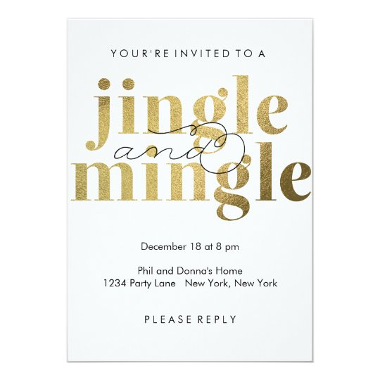 Jingle and Mingle | Holiday Party Invitations | Zazzle.com