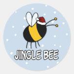 jingle bee classic round sticker