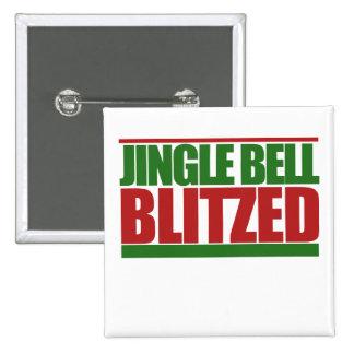Jingle bell blitzed 2 inch square button