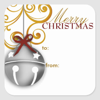 Jingle Bell Christmas Gift Tag Sticker