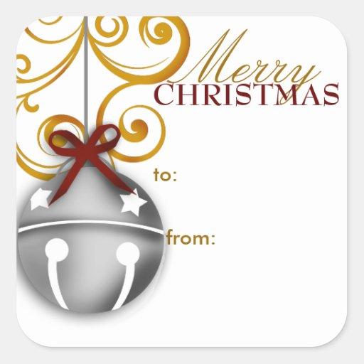 Jingle Bell Christmas Gift Tag Sticker