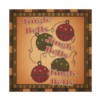 Jingle Bell Christmas Holiday Canvas