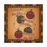 Jingle Bell Christmas Holiday Canvas Canvas Prints