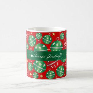 Jingle Bell Christmas Ornament Design Pattern Coffee Mug