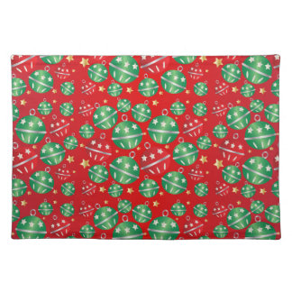 Jingle Bell Christmas Ornament Design Pattern Placemat