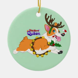 Jingle Bell Corgi- Ornament