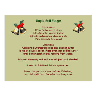 Jingle Bell Fudge Postcard