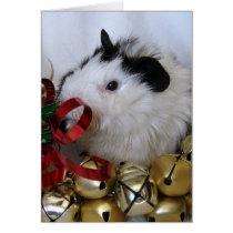 Jingle Bell Guinea Pig Card