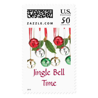 Jingle Bell Holiday Postage Stamps