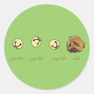 jingle bell rock classic round sticker