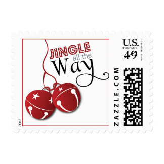 Jingle Bells all the Way Christmas Holiday Postage