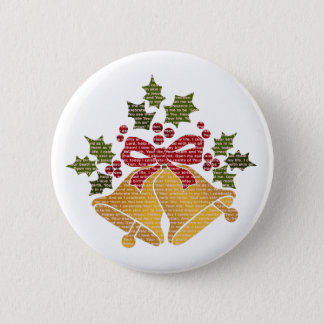 Jingle Bells and Holly for Winter Christmas Prayer Button