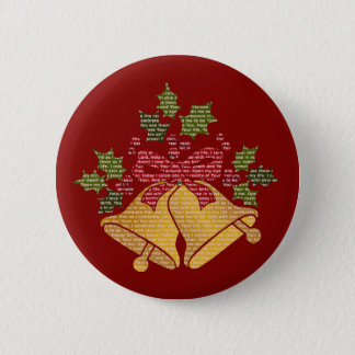 Jingle Bells and Holly for Winter Christmas Prayer Pinback Button