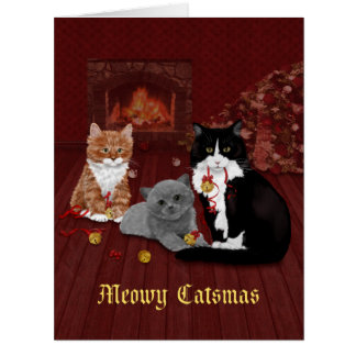 Jingle Bells Cats Christmas Card