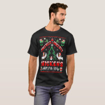 Jingle Bells Chickens All The Way Christmas Gift T-Shirt