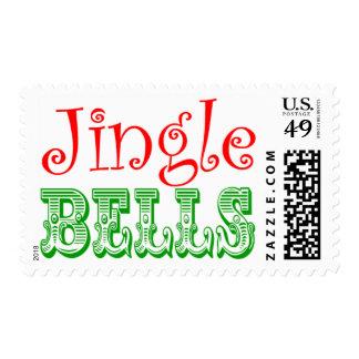 Jingle Bells Christmas Card Stamps
