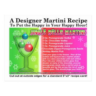 Jingle Bells Christmas Martini Recipe Postcard
