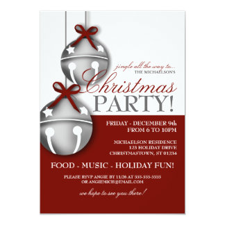 Jingle Bells Christmas Party Invitation