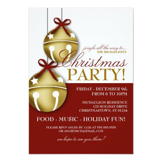Jingle Bells Christmas Party Invitation