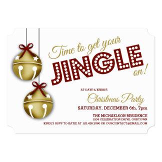 Jingle Bells Christmas Party Invitations